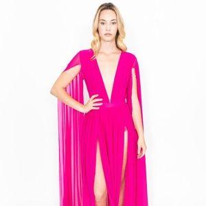 LEELOO COUTURE Long Mesh Dress